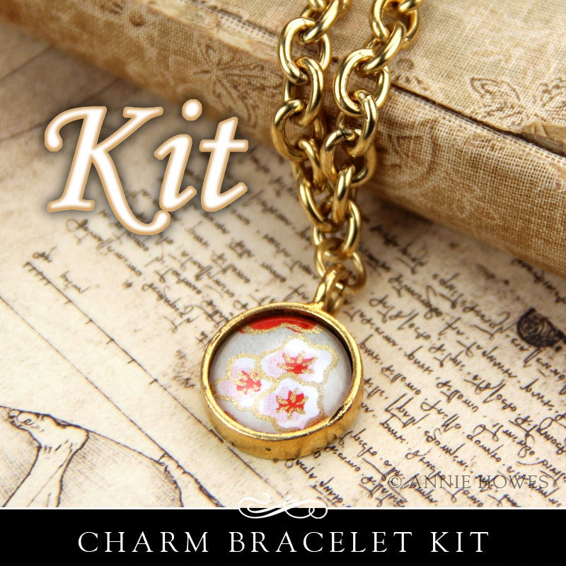 Make Your Own Necklaces And Jewelry At Home: Glass Photo Charm Bracelet Kit. Make Your Own Charm By