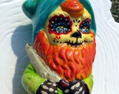 Dia de Los Muertos Ginger Garden Gnome with Shears