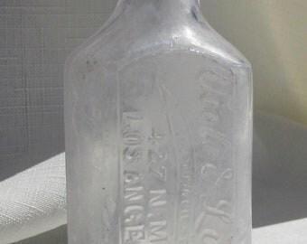 Antique, Los Angeles California Medicine Bottle (Amethyst266)