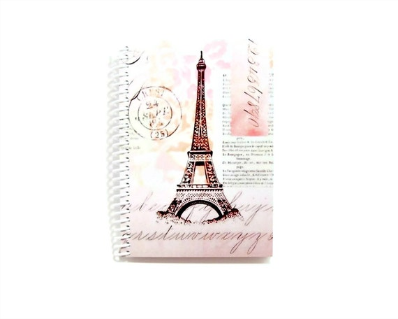 Notebook Spiral Bound: Pink Eiffel Tower (4 x 6)