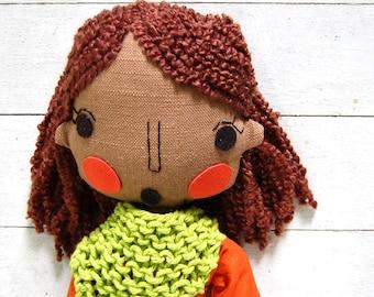 Rag Doll, Custom Doll, Fabric Doll, Ethnic Doll, African Doll, Cloth Doll, Girlfriend Gift, Wedding Gift, Anniversary Gift,Personalised Gift