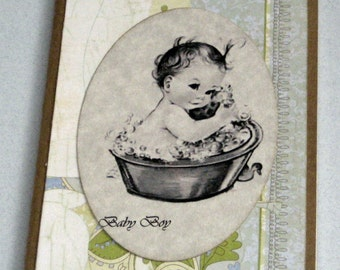 Journal Moleskine ruled Notebook  For Baby Wishes baby boy