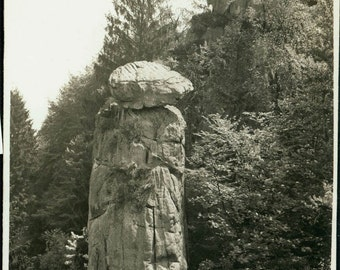 vintage photo Table Top Rock Pillar of Amazing