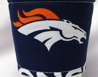 Coffee Cozy, Cup Sleeve,  Eco Friendly,  Slip-on, Teacher Appreciation, Co-Worker Gift, Bulk Discount:   NFL Broncos