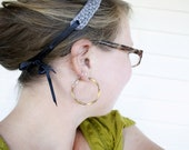 KNITTING PATTERN: Seed Stitch Headband with Ribbon Tie