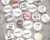 Pick two Pinback buttons