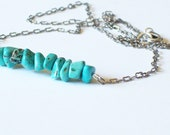 Blue Turquoise Beaded Necklace