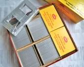 "Sale - BRAND NEW Box Emde 100 Vintage 2"" x 2"" Metal Slide Binders Frames and 200 pieces of Glass"