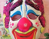 Vintage Halloween Collectible / Sad Clown Mask / Child Size / M. SHIMMEL SONS INC.