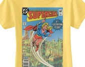 Supergirl vintage comic book cover tee
