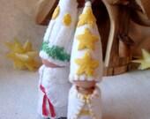 Santa Lucia Day set Christmas Gnomes Waldorf Storytelling Dollhouse doll set