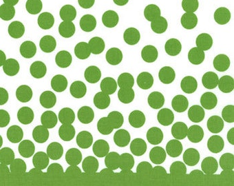 SALE Simply Color - By V And Co. - For Moda - Green Dots On Cream - 1 Yard - 5.75 Dollars