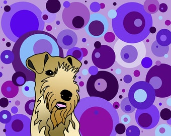 Dandy the Lakeland Terrier limited edition print on canvas by Lisa Karen Ward