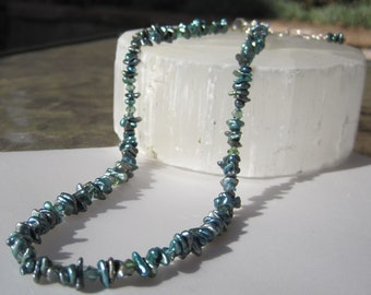 Blue Keshi Pearl Necklace
