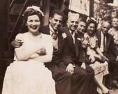The Wedding Party - Wonderful Vintage Photo of Wedding Gathering