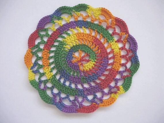"New Handmade Crocheted ""Elegance"" Coaster/Doily in Mexicana"