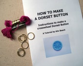 DIY KIT Dorset Button Making Kit - Pink Plum - How to Make 6 Buttons