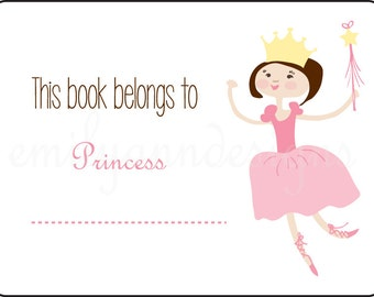 Princess Book Plates This Book Belongs To Labels Set of 15