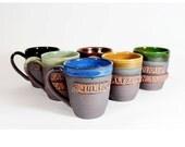 Custom name mug, personalized pottery, made to order