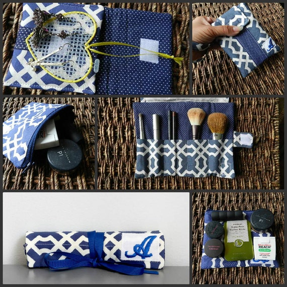 custom for Colin Organizer 2 pc Set with Monogram Earring case and Brush Case