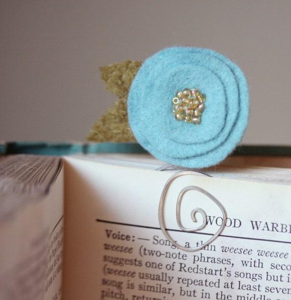 Blue Posy Bookmark