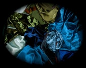 Off-Cut Remnant And Scrap Fabric. Phoenix, Blackbird, Pheasant, and Peacock.