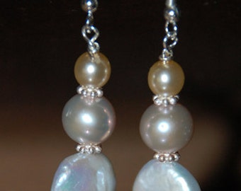 Bridemaids Freshwater pearl Dangle Earring