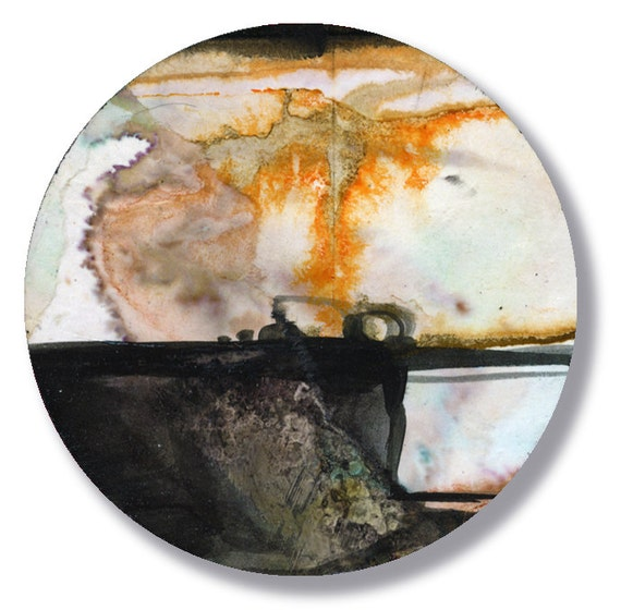 Circle Abstraction Series ... No. 37 ... Original Contemporary Modern circle painting by Kathy Morton Stanion EBSQ
