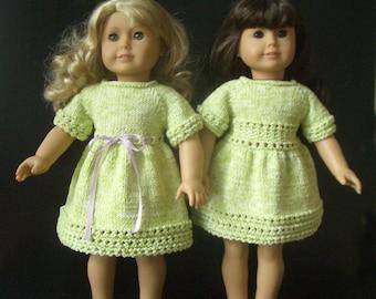 American Girl 18 inch doll Knitting pattern DRESS (38)
