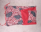 Handmade Sleeping Bag (Red, White, and Blue) fits 18 inch Doll Like American Girl