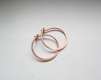 """Small Sweet n' Simple Copper Hoops 5/8"""""""