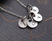 personalized love necklace in sterling silver