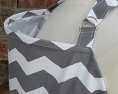 Nursing Cover-Gray Chevron-Free Shipping When Purchased With A Wrap