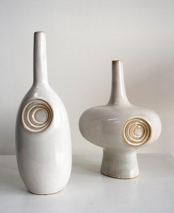 RESERVED for mgrind Vintage Pottery Form Vases I