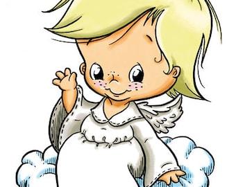 Little Angel on Cloud (DIGI STAMP)