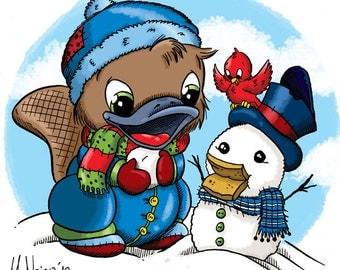 Bikkie's Snowman (DIGI STAMP)