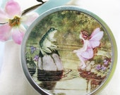 Tooth Fairy Box with poem. Frog and fairy pill/trinket box