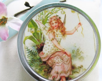 Tooth Fairy Box with poem. Nature Fairy in her garden Trinket/pill box.