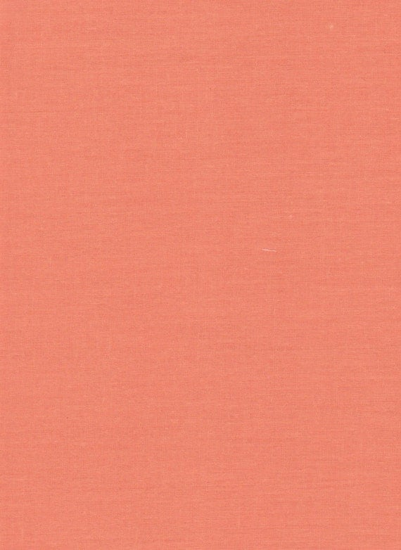 Coral Color Cotton Palencia Fabric.