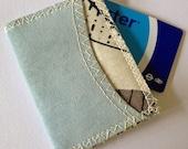 BelleReverb ice blue suede Oyster card holder