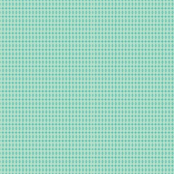 Tinsel lights blue baubles by maude asbury blend fabrics