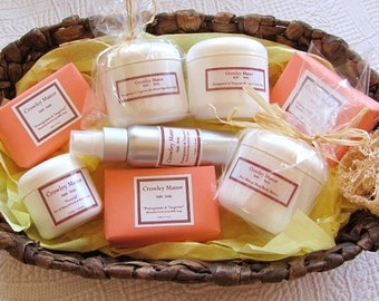 Goat Milk soap  Skin Care gift set Choose your scent Free Shipping - SAVE 25.00