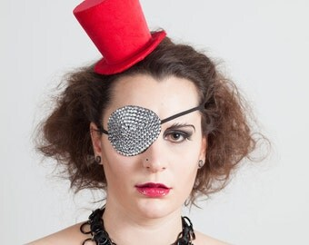 Mini Velvet Top Hat, Burlesque, Gothic Wear, many colors