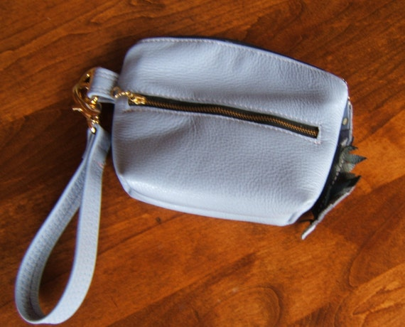 Cheri Wristlet or Clutch in supple lilac leather with FREE Shipping