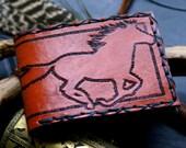 Men's Leather Wallet-Men's Leather Wallet-Tooled Horse Leather Wallet-Men's Leather Wallets-Wallet-Mens Leather Wallet-Mans Wallet- Wallets
