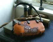 Leather Handbag- Leather Hobo Bag-Hand Tooled Hare- Leather Handbag-Leather Handbags-Leather Purses Shoulder Bag- Handbag-Leather Handbag