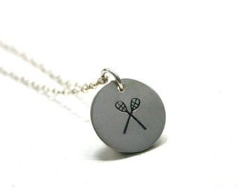 Lacrosse necklace - Lacrosse jewelry - LAX charm necklace -Lacrosse team gift for girls or coach - Back to School