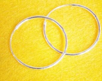 23 mm Hinged Hoop Earrings - 925 Sterling Silver Earrings - CUSTOMIZE