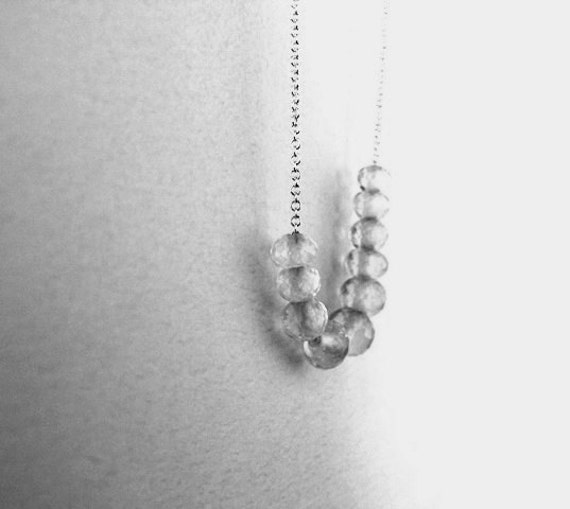 Rose quartz stone necklace