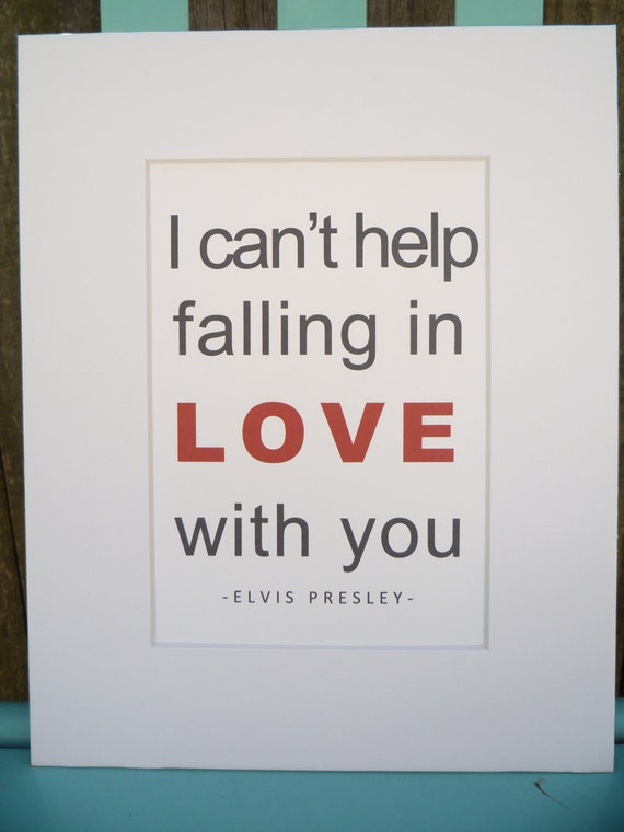 I Can 39 T Help Falling In Love With You Elvis Presley By